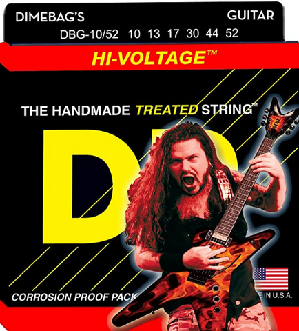 DR - Electric Guitar Strings - Dimebag Darrell Signature -Treated Nickel-Plated - 10-52