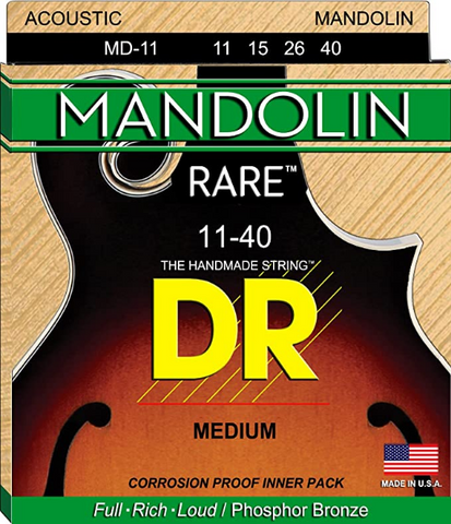 DR - Rare - Mandolin Medium - 11-40 Strings