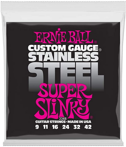 Ernie Ball - Electric Guitar Strings - #2248- Super Slinky - Stainless Steel