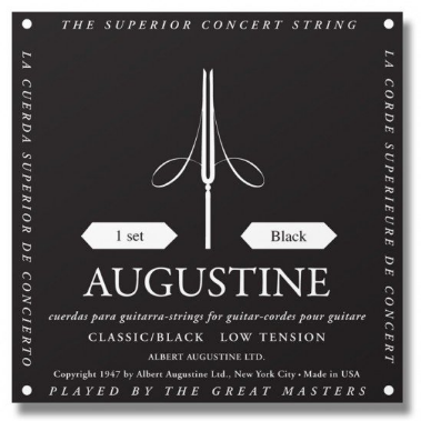 Augustine - Classical Acoustic Guitar Strings - Black - Low Tension