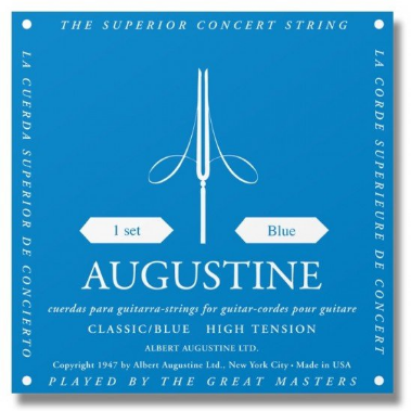Augustine - Classical Acoustic Guitar Strings - Blue - High Tension