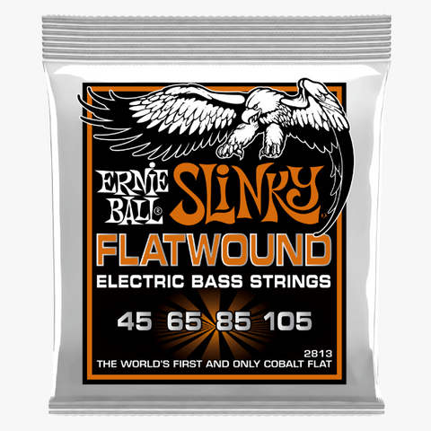 Ernie Ball Flatwood Bass Cobalt - 45-105