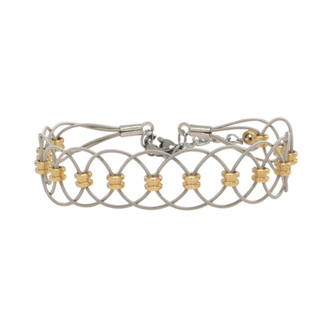 Duet Bracelet - Two-Tone - Adjustable
