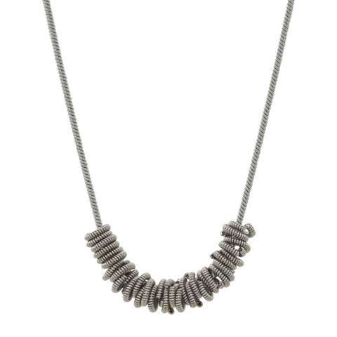 Staccato Necklace - Silver - 16""