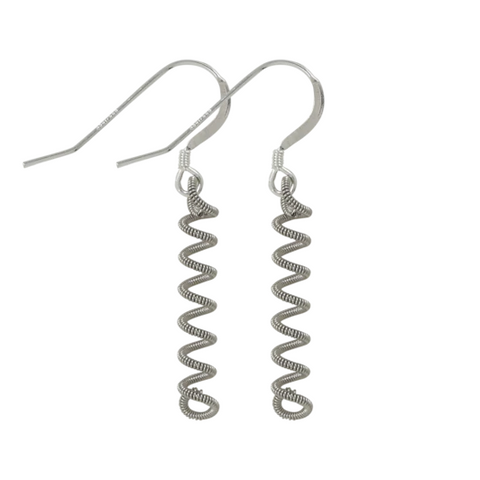 Unwound Earring - Silver - Large
