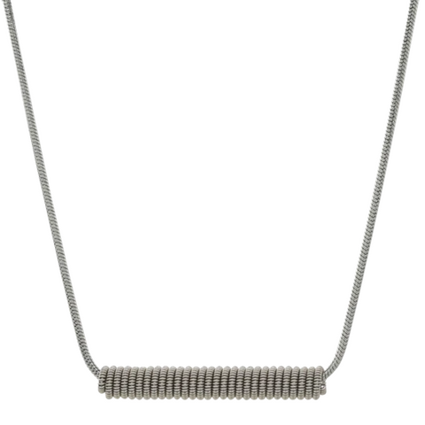 Wound Up Necklace - Silver - 16""
