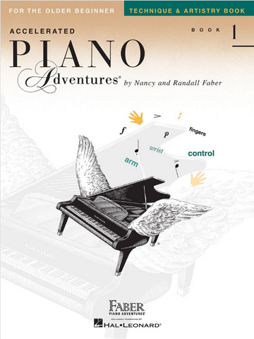 F & F - Accelerated Piano Adventures For The Older Beginner - Technique & Artistry - Book 1