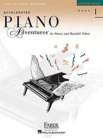 F & F - Accelerated Piano Adventures for the Older Beginner - Lesson Book - 1