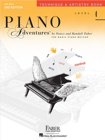 F & F - Piano Adventures - Technique & Artistry Book - Level 4