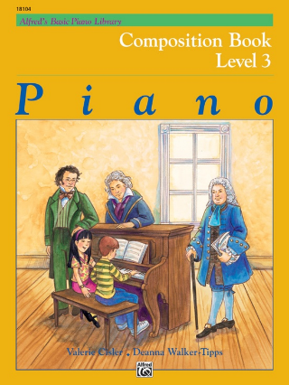 Alfred's - Basic Piano Library - Composition Book - Level 3 (Book)