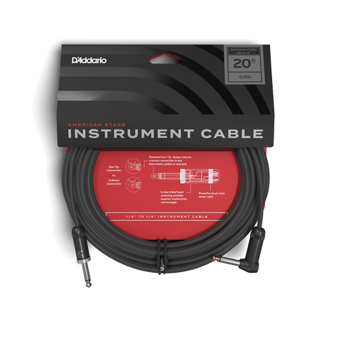 D'addario - American Stage Series - 20 Foot Instrument Cable - S/RA