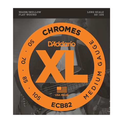 D'Addario - Electric Bass Strings #ECB82 - Flatwound - Medium Gauge - Long Scale