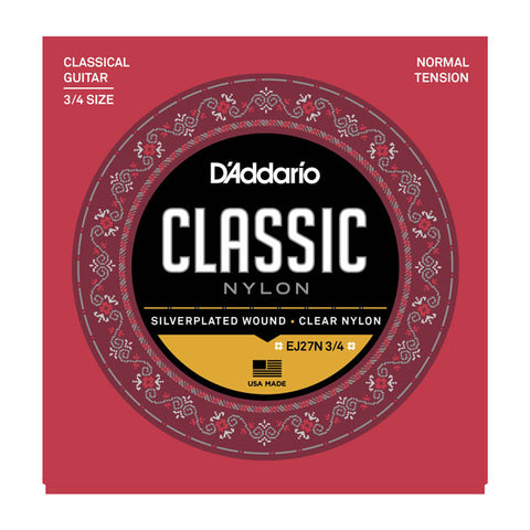 D'addario - EJ27N 3/4 - Classical 3/4 Strings