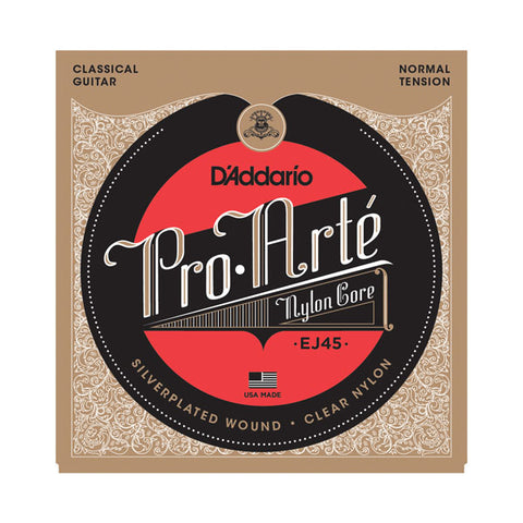 "D'Addario- Classical Acoustic Guitar Strings ""Pro-Arte'"" #EJ45 - Silverplated - Normal Tension"
