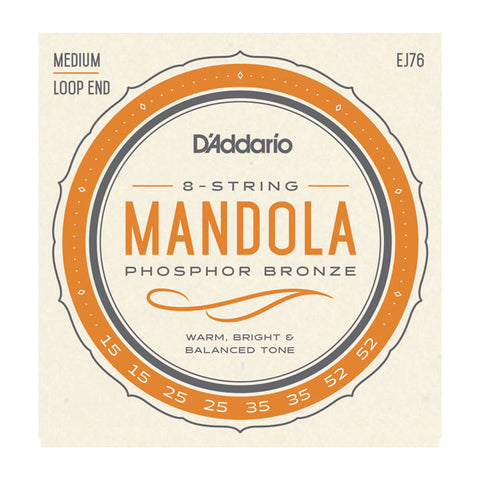 D'Addario - EJ76 - Medium -  Phospher Bronze Mandola Strings