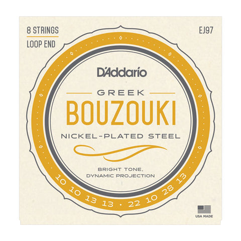 D'Addario - Greek Bouzouki Strings  - Loop End - 8 Strings - EJ97