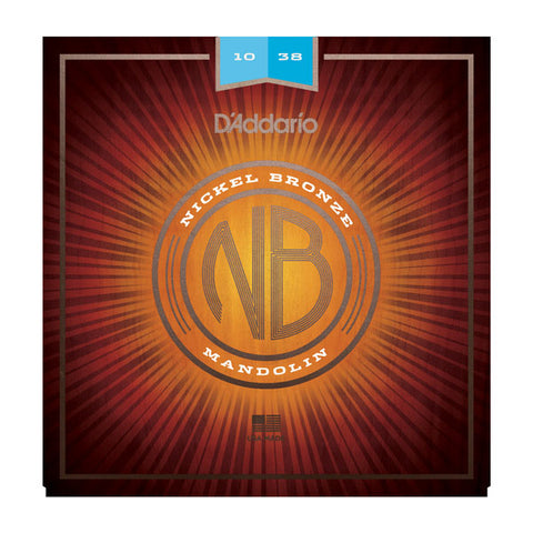 D'addario - NBM1038 - Nickel Bronze Wound Mandolin Lights - 10-38