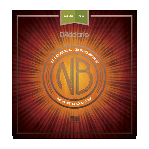 D'addario - NBM11541- Nickel Bronze Wound Mandolin Heavys - 11.5-41