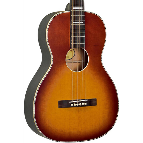 Recording King - Acoustic Electric Guitar Tobacco Sunburst - Parlor