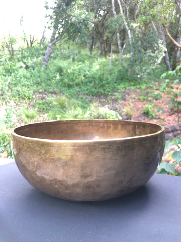 "13"" Brass Singing Bowl - ""F"" - India"