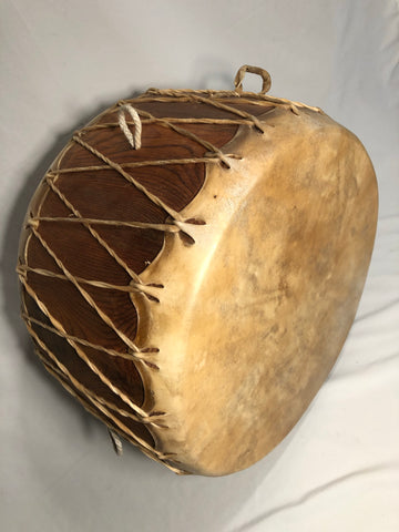 "18"" Native American Standing Drum w/ 4 Corners Stand"
