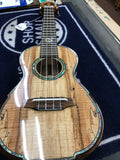 Limited Edition Ohana Ukulele - Spalted Maple Top/Abalone inlayed