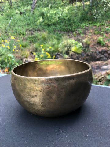 "6 1/2"" Brass Singing Bowl - ""D"" - India"