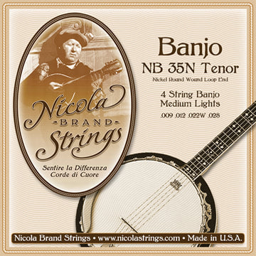 Nicola Tenor Banjo 4 String Light - Nickel