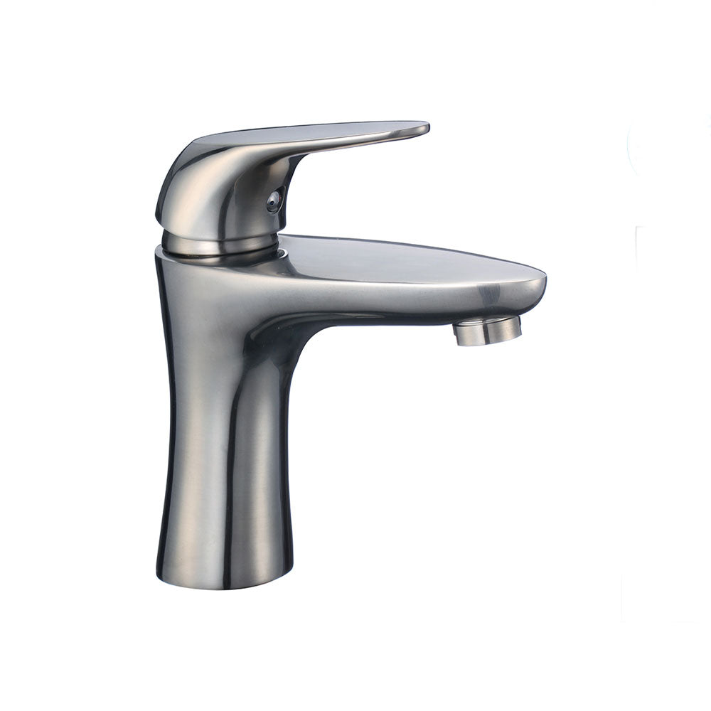 Single Hand Brushed Nickel Bathroom Faucet