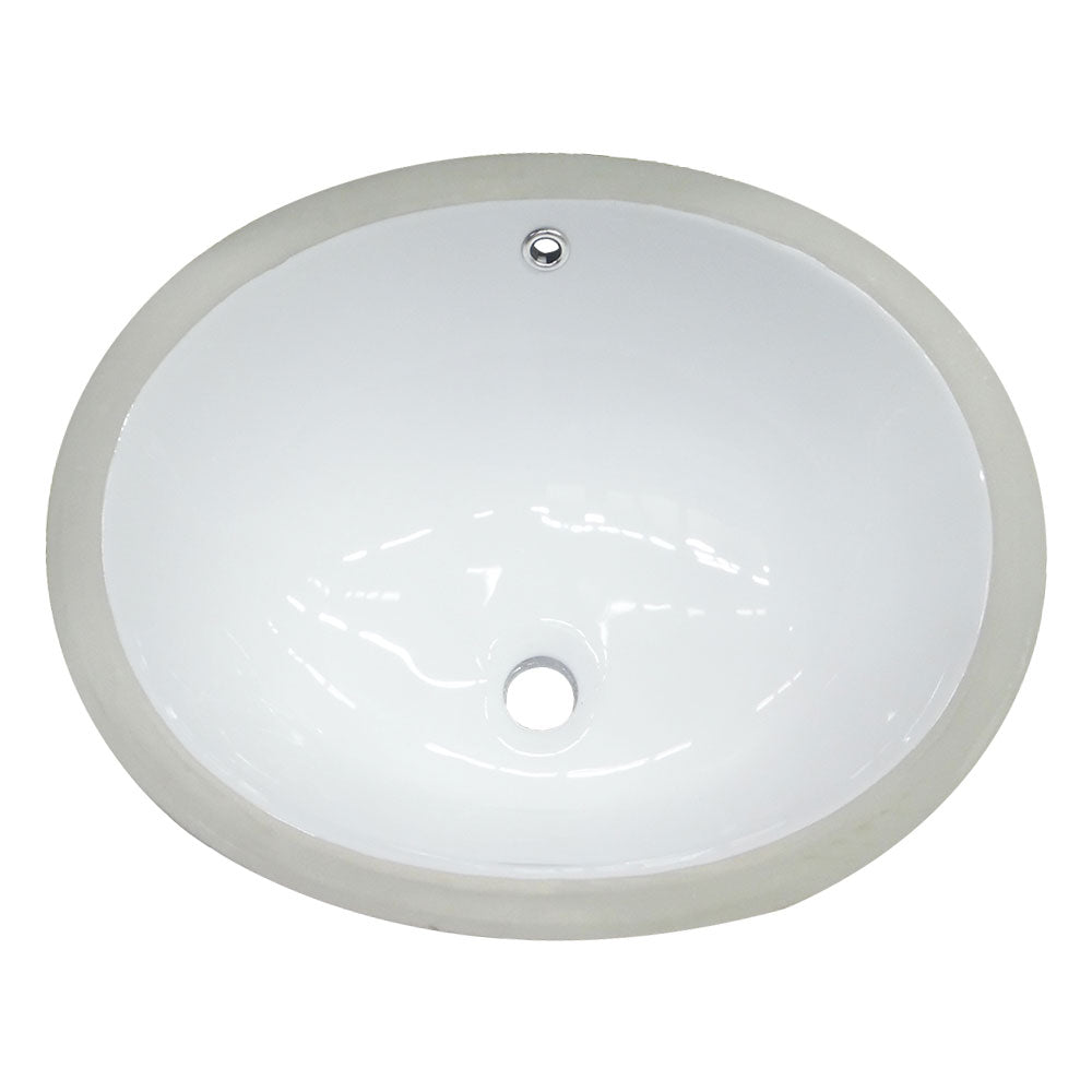 Oval Porcelain Undermount Sink