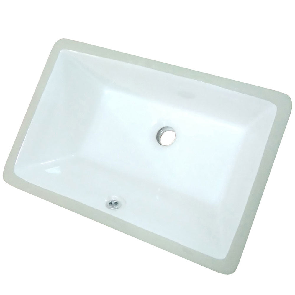 Rectangular Porcelain Undermount Sink