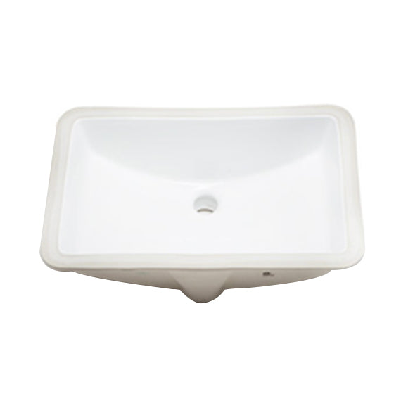 Rect Porcelain Undermount Sink