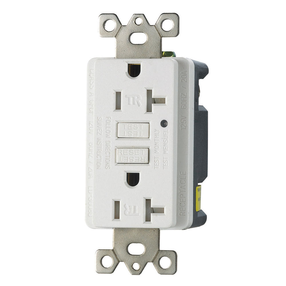 Dublex Receptacle TR-GFCI, with LED, Self-Testing 20A 120V (10Pack)