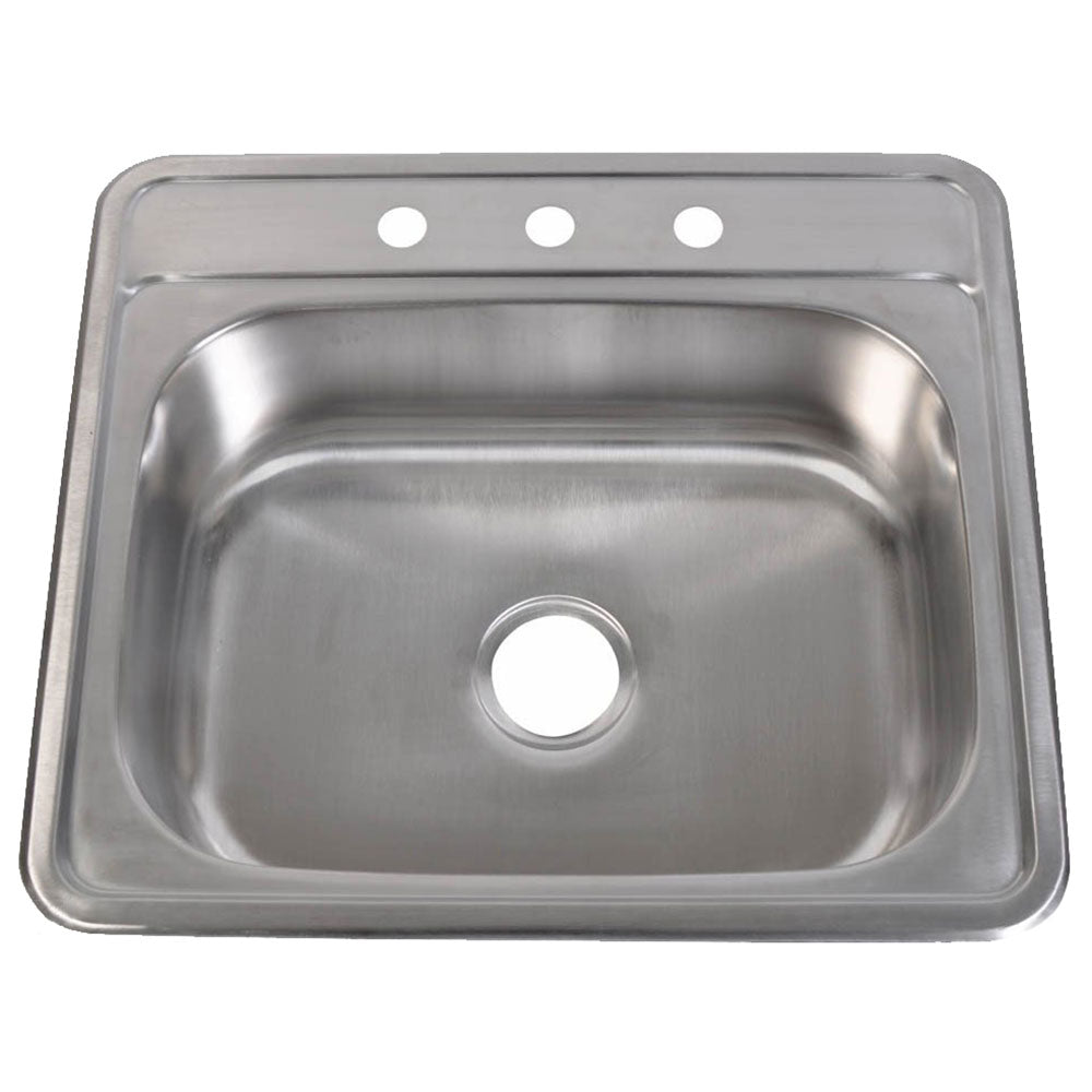 Stainless Steel Kitchen Sink 25″W x 22″L x 6″H