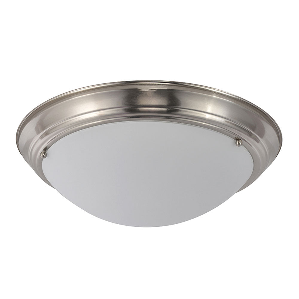 2-Light Brushed Nickel Ceiling Light