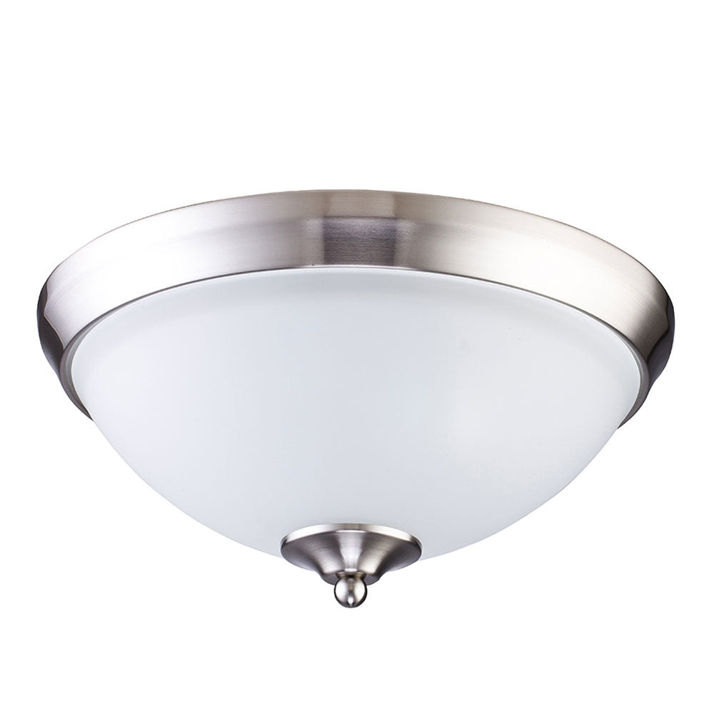 2-Light Brushed Steel Ceiling Light
