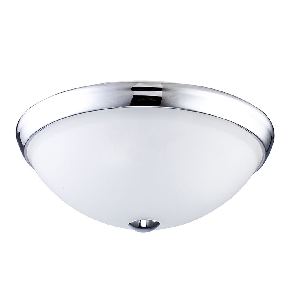 2-Light Chrome Ceiling Light