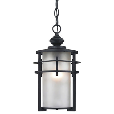 1-Light Outdoor Hanging Light, Black