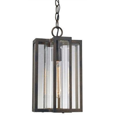 1-Light Outdoor Hanging Light, Brown
