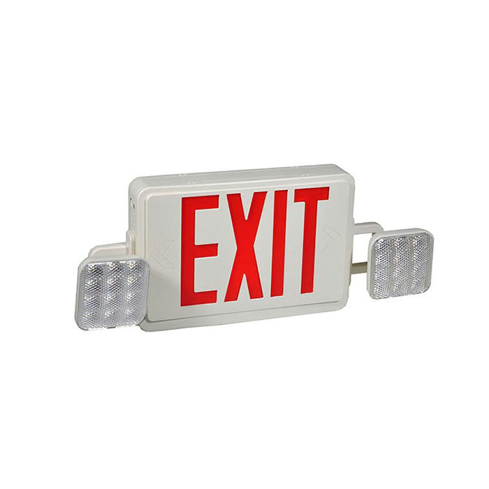Compact Size LED Emergency, Exit Sign Combo