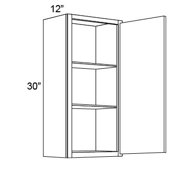 "30"" HIGH WALL CABINETS- SINGLE DOOR Shaker White"