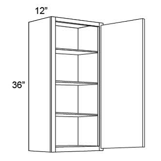 "36"" HIGH WALL CABINETS- SINGLE DOOR  Shaker White"