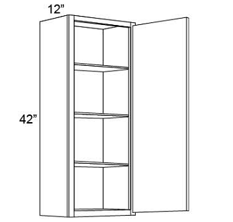 "42"" HIGH WALL CABINETS- SINGLE DOOR Shaker White"