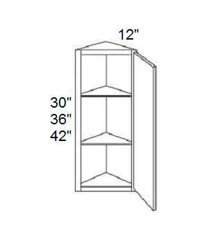 ANGLE  END WALL CABINET - Prima White