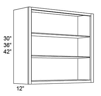 NO DOOR WALL CABINET - FOR GLASS DOORS -  Fabuwood Vista Blanc