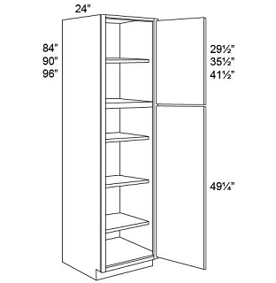 TALL PANTRY - SINGLE DOOR - Retro White