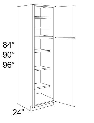 TALL PANTRY - SINGLE DOOR PANTRY - Fabuwood Hallmark Pecan