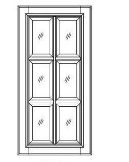 "42"" & 48"" GLASS DOORS - TRUE DIVIDED LITERS - Fabuwood Elite Merlot"