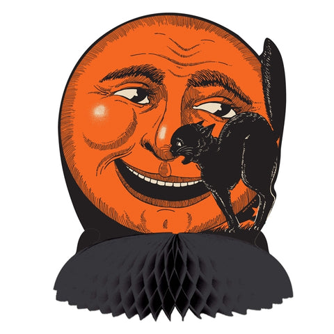 Cat on the Moon Retro Halloween Cutout