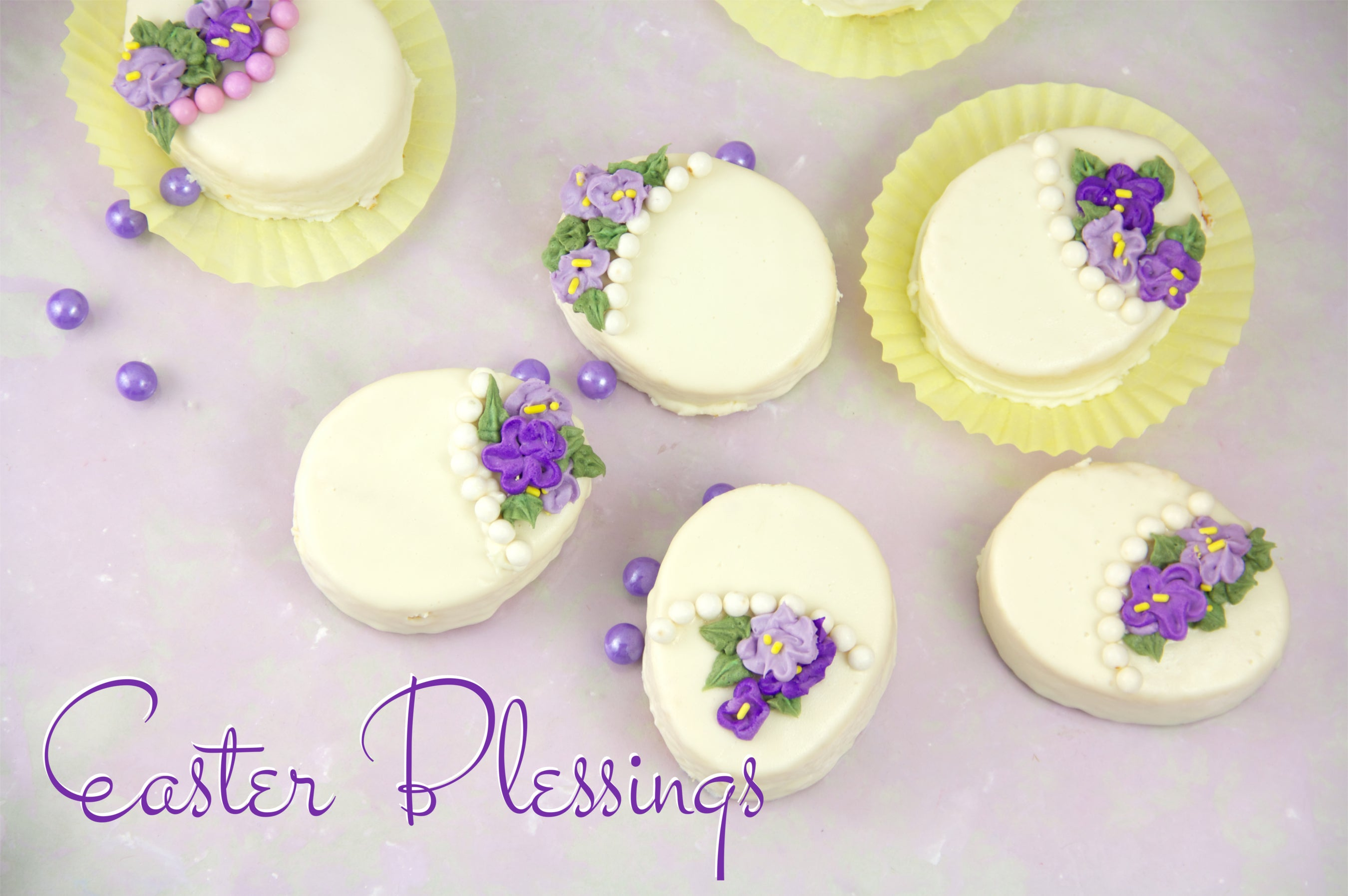 Easter Blessings Egg Cakes